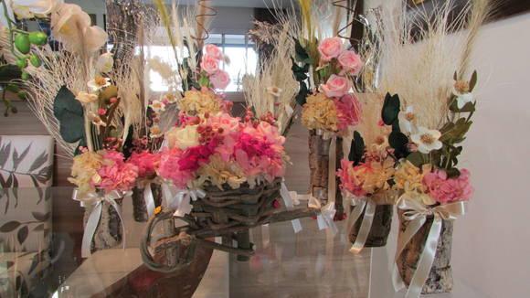 Conjunto De Flores Secas para festas X no Elo7 Rosamorena Artes Florais (34D03F) -> Decoração De Flores Festa