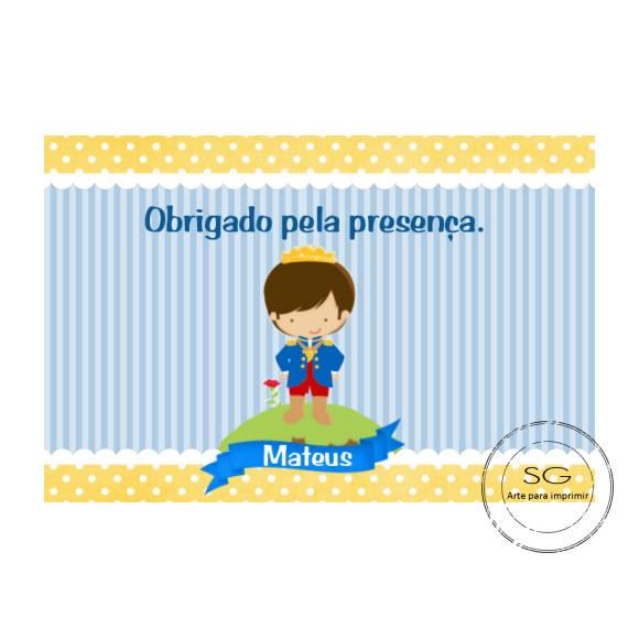 Tag Pequeno Príncipe | Arte para Imprimir | Elo7
