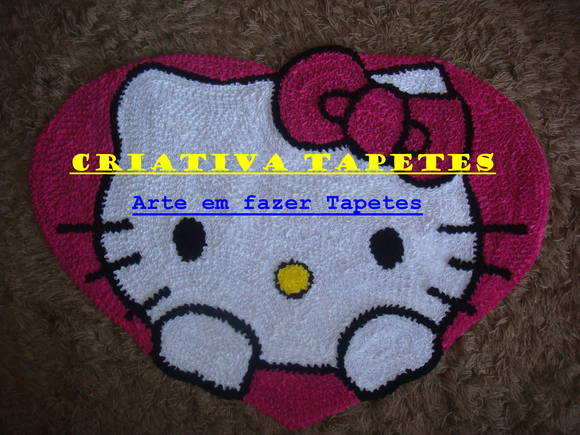 TAPETE DECORATIVO HELLO KITTY! Criativa Tapetes  ~ Tapetes Quarto Hello Kitty