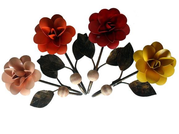 Cabide Floral em ferro forjado