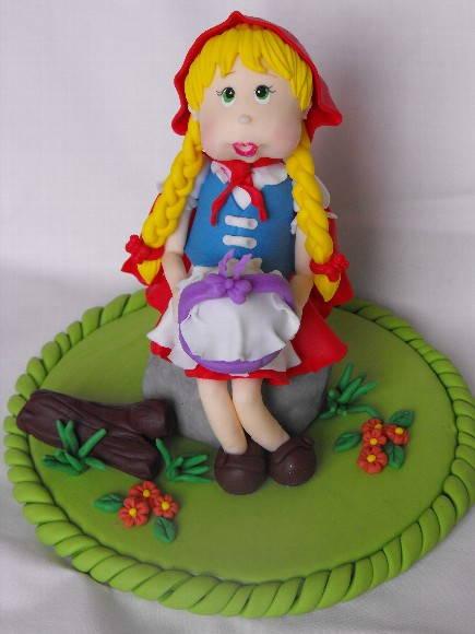topo de bolo Chap�uzinho vermelho