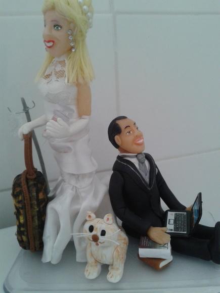 Topo bolo casal noivos