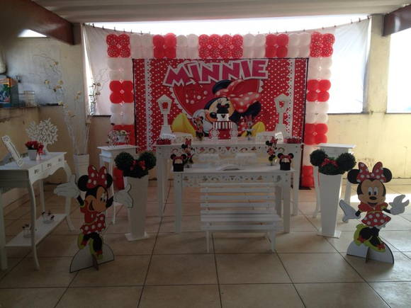 Decora��o Proven�al da Minnie vermelha