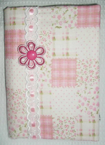 Capa Agenda / Caderno Patchwork Rosa
