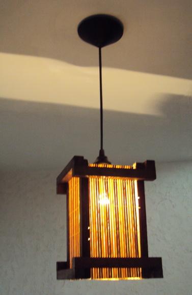 Lustre de teto r�stico japones