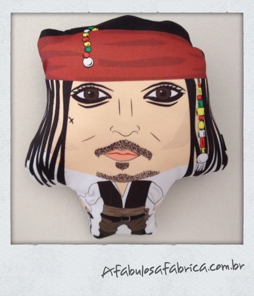Toy almofada do Jack Sparrow Media