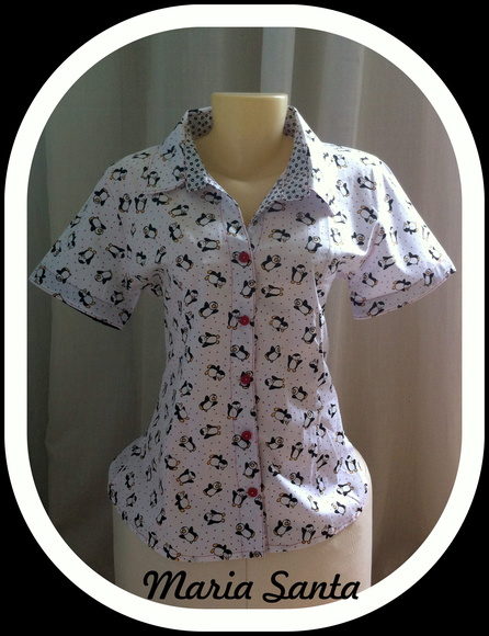 Camisa estampa pinguins