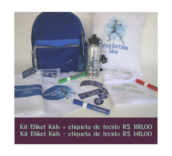 Kit Etiket Kids + etiqueta tecido