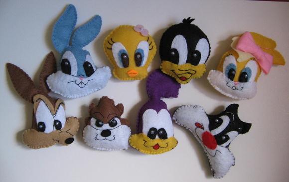 Lembrancinhas Baby Looney Tunes feltro