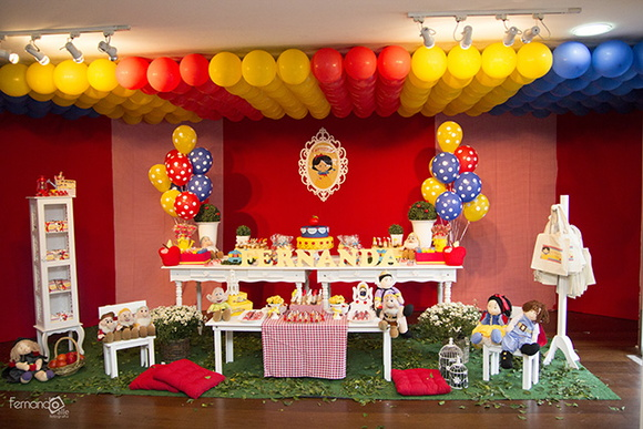decoracao clean festa infantil branca de neve:decoracao-clean-branca-de-neve-decoracao