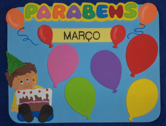 CARTAZ ANIVERSARIANTES DO M�S