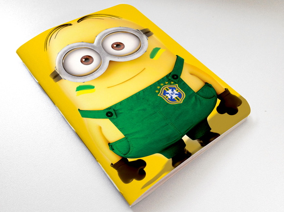Mini caderno Torcida Minions Brasil
