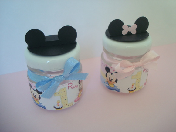 Potinho de vidro tema Disney Baby