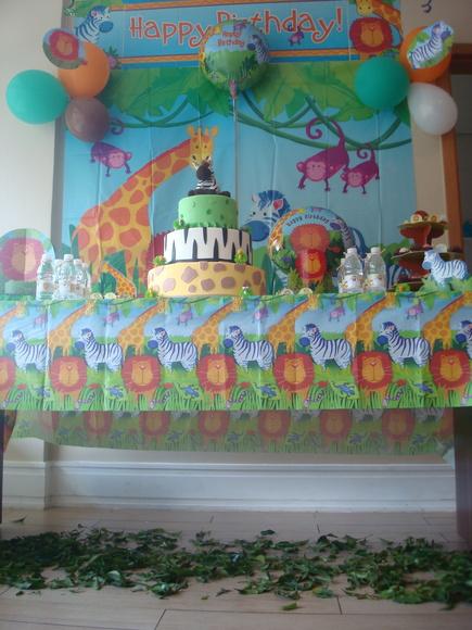 Decoração de festa infatil Safari