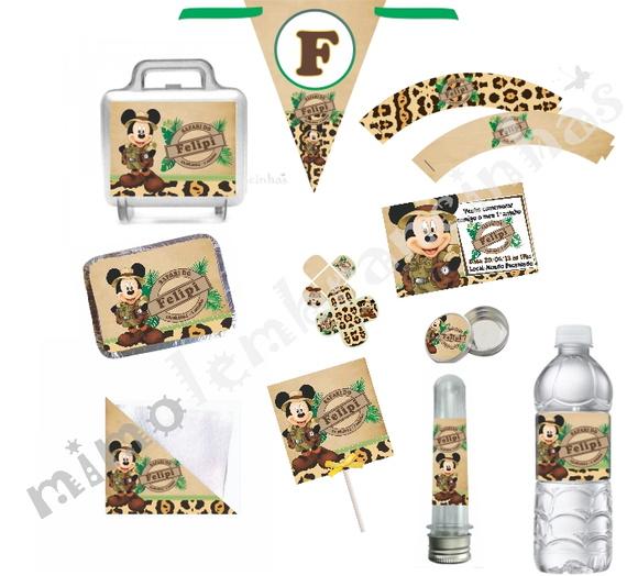 Kit Festa Mickey Safari   Mimo Lembrancinhas   Elo7