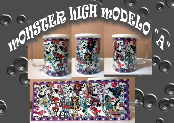 "Caneca monster high Modelo ""A"" e ""B"""