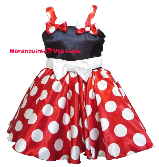 Vestido Minnie modelo ver�o luxo