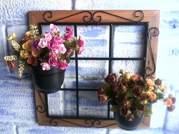 TRELI?A COM MADEIRA DE DEMOLI??O floralu artesanatos em ...