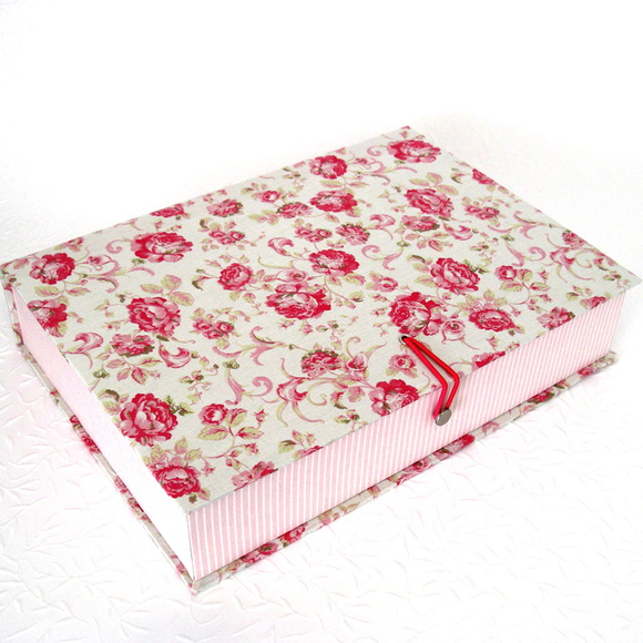 Caixa Organizadora Floral Rosa