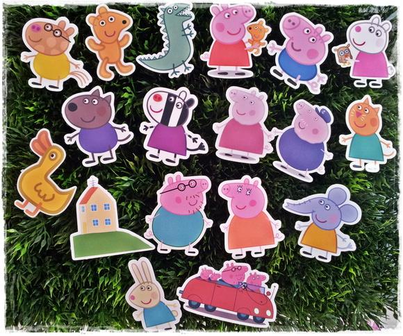 Adesivo personagens Peppa Pig