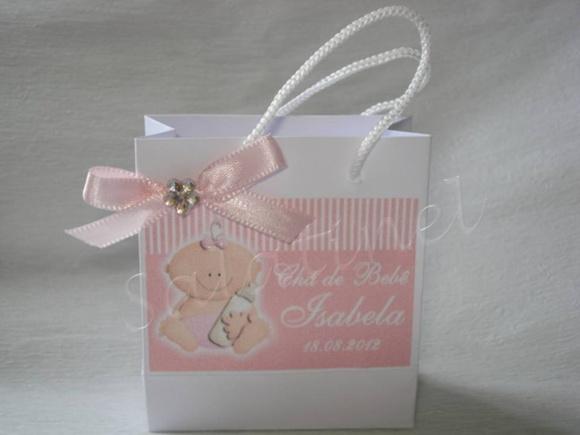 Mini sacolinha beb� personalizada