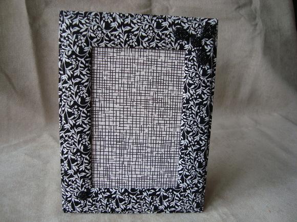 Porta-retrato FLORAL Preto e Branco