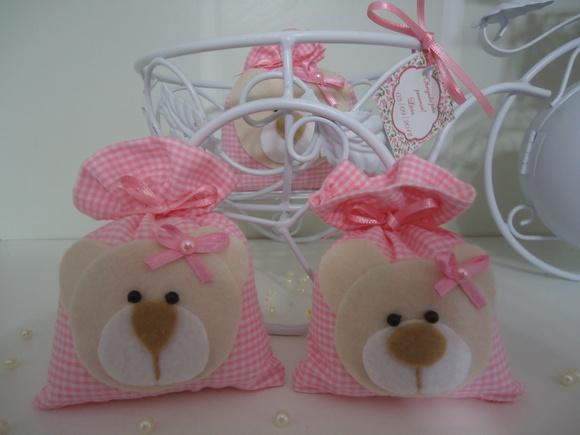 Lembrança De Maternidade Ursa Rosa