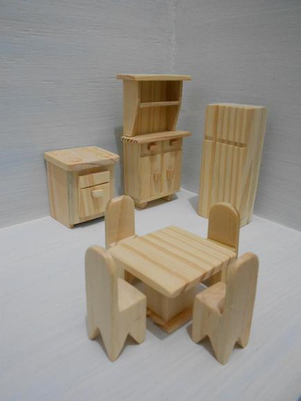 kit decoracao cozinha:kit moveis miniaturas- cozinha 8 peças