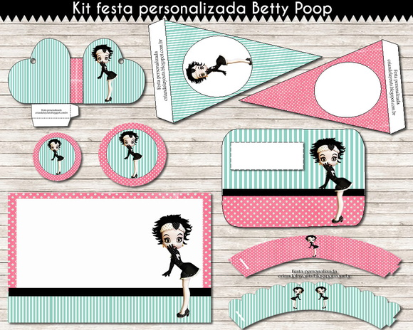 Kit festa personalizada Betty Poop