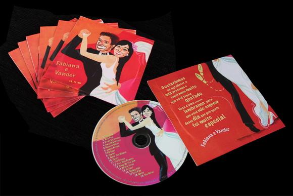 CD ou DVD personalizado e gravado