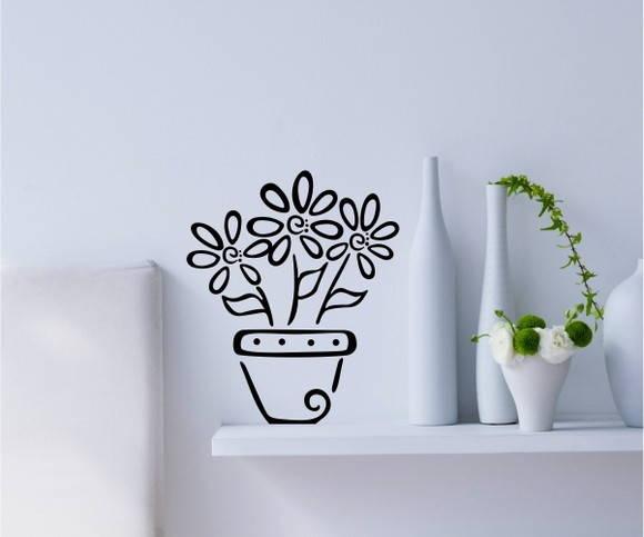 Adesivo Rivastigmina Sus ~ Adesivo Decorativo Vaso de Flores no Elo7 Paredes decoradas com adesivos (433D1A)