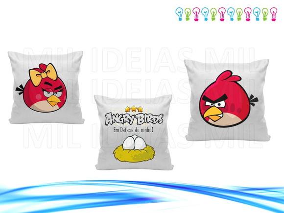 Trio de capas almofada angry birds mil ideias mil elo7 - Angry birds trio ...