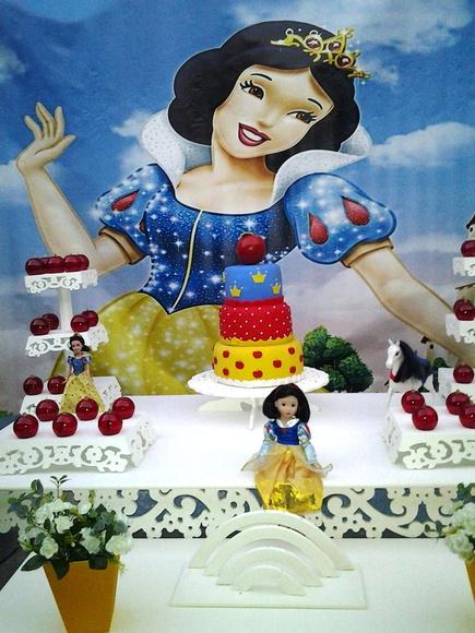 decoracao para festa infantil branca de neve:Decoração Festa Infantil Branca de Neve