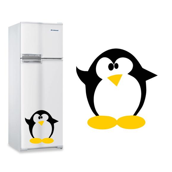 Aparador Baixo Mdf ~ Adesivo de Geladeira Pinguim 4 Vetor e Imagem Elo7