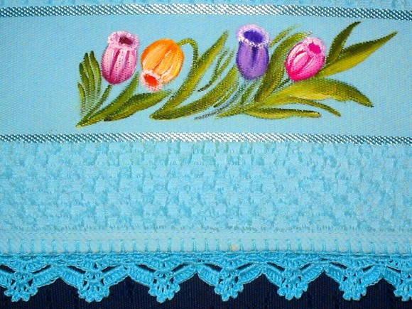 Toalha de visita tulipa