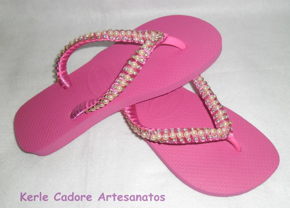 Havaiana decorada