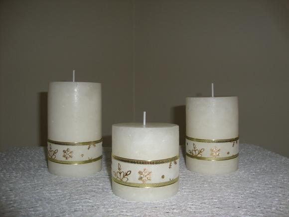 Conjunto de velas natalina