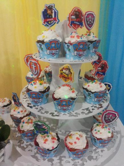 decoracao festa infantil patrulha canina : decoracao festa infantil patrulha canina:Forminhas para Cupcakes Patrulha canina