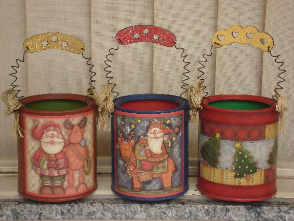 Latas Decoradas Para O Natal Nanda Lopes Elo7 All about loving each ...