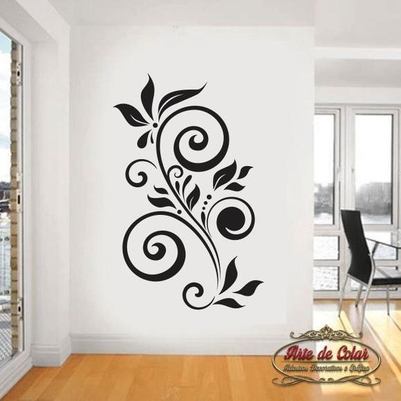 Tipos De Artesanato Gaúcho ~ Adesivo de Parede Floral 14 no Elo7 Arte de Colar Adesivos e Gráfica (4D2B35)
