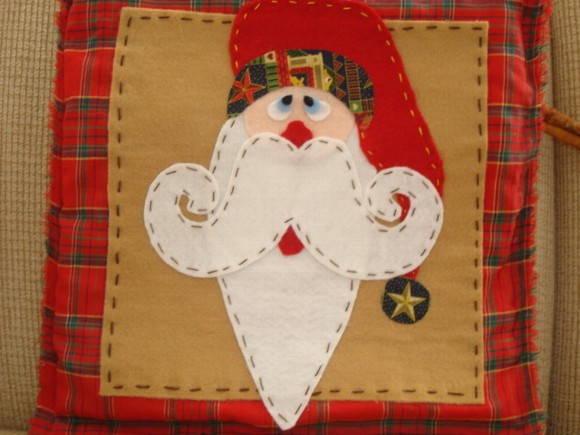 Pano de Natal - Papai Noel