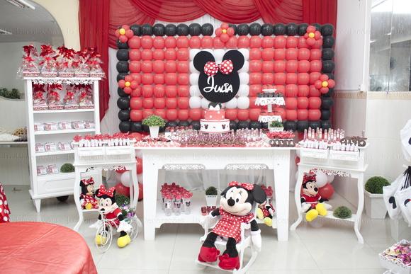 Decoração Minnie Vermelha  Ingrid de Aguiar Kaneda  Elo7