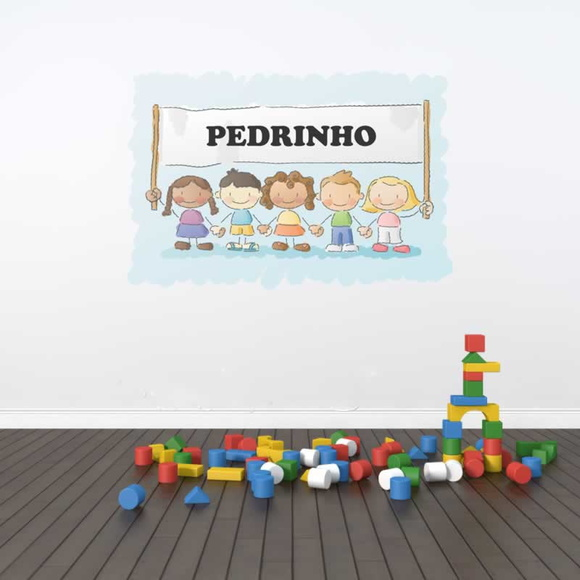Artesanato Em Ubatuba ~ Adesivo de Parede Infantil Personalizado Lar Adesivos Elo7