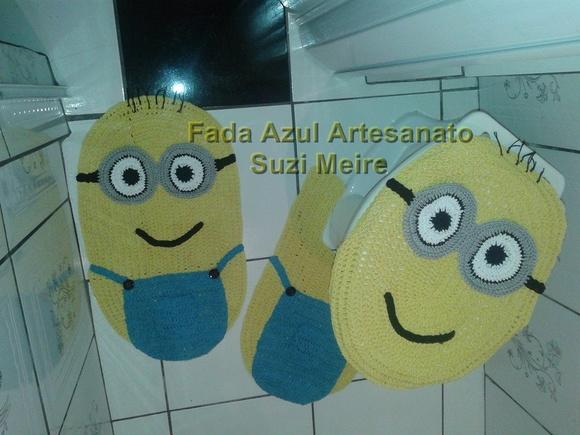 Tapete Minions De Croche : jogo-de-tapete-de-croche-minions-3-pecas-infantil