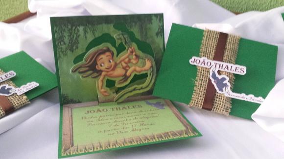 Convite 3D Tarzan