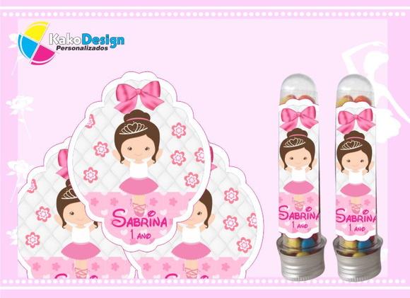 Adesivo Bailarina Para Tubete ~ Adesivo para Tubete Bailarina Kako Design Personalizados