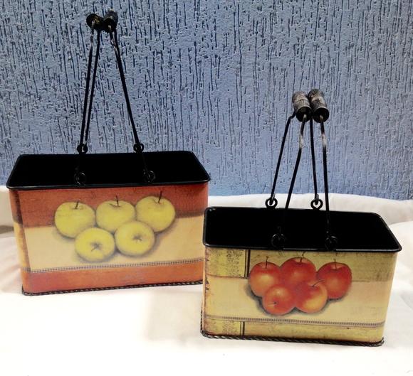 Cestas decorativas frutas em ferro no elo7 ateli - Cestas decorativas ...