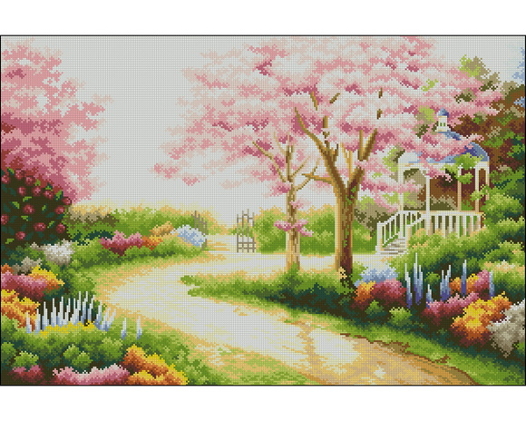 flores jardim primavera:Ponto Cruz em PDF – Jardim de Primavera