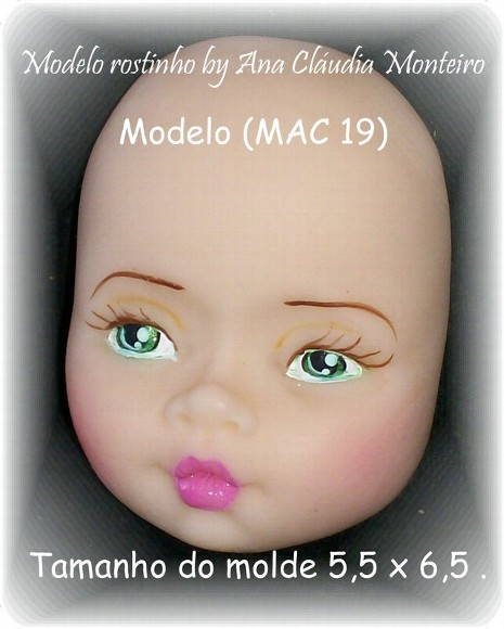 Molde rostinho modelo(MAC 19).
