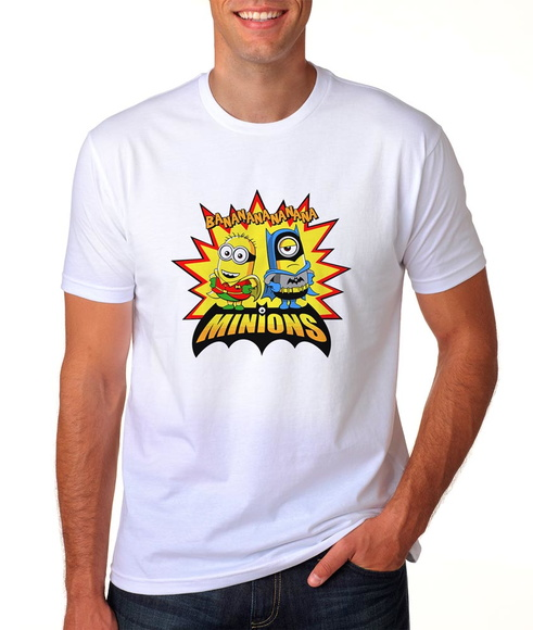 CAMISETA MINIONS BANANANA BATMAN E ROBIN